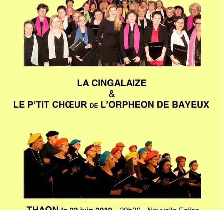 """Concert de la Chorale """"La Cingalaize"""" à THAON"""