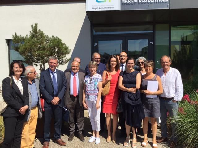 Visite parlementaire de la Maison des Services de Thury-Harcourt / Le Hom le 10 juillet dernier