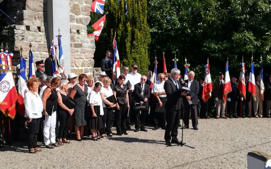 Retour sur la Cérémonie organisée le 7 juillet dernier en hommage aux victimes civiles et militaires du maquis de Saint-Clair exécutées les 7 et 8 juillet 1944