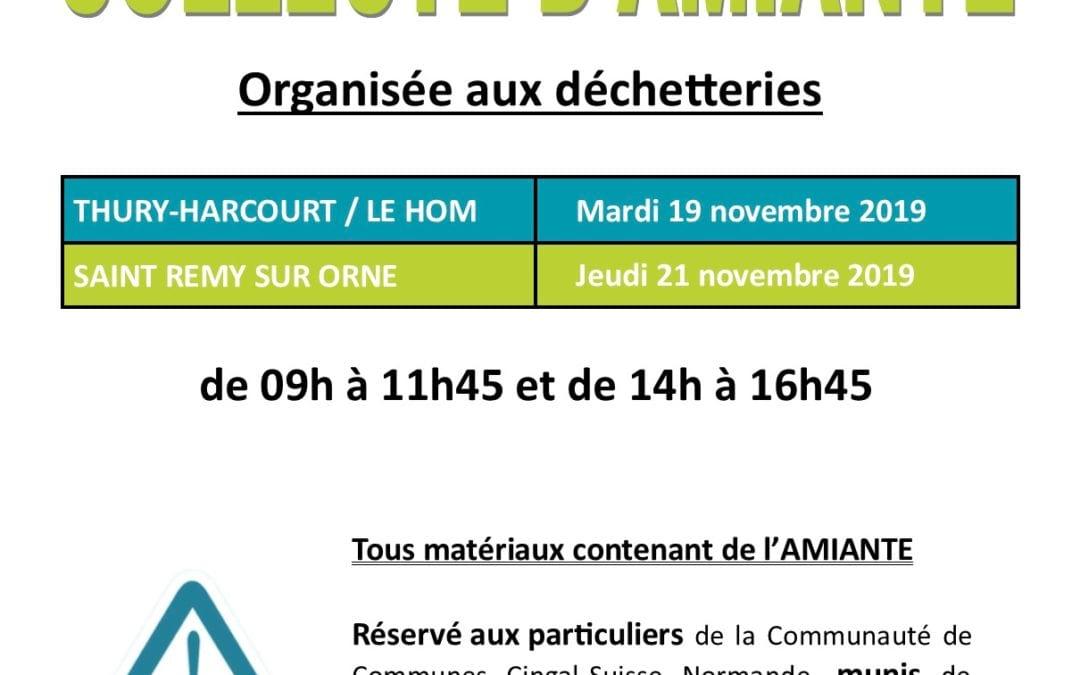 Collecte d'amiante dans les déchetteries de Thury-Harcourt/Le Hom et de Saint Rémy sur Orne