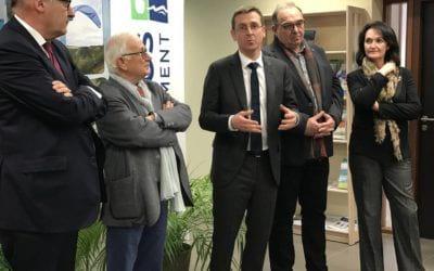 Philippe Court, nouveau Préfet du Calvados, était en visite à la Maison de Service le 08 janvier