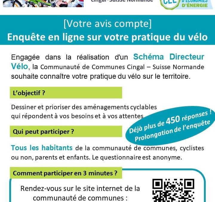 Prolongation de l'enquête en ligne sur les pratiques cyclables